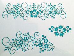 Floral Border Stencil
