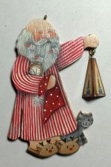 Sleepwalking Santa Ornament Pattern and kit