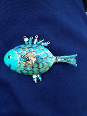 Blue Fish Pendant Pattern and Components