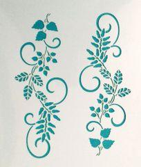 Leaf Border Stencil