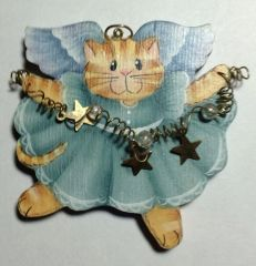 Angel Kitty Ornament Pattern and Components