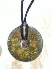 Faux Metal Art Pendant Pattern and Components