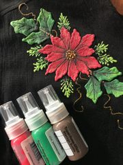 Christmas Poinsettia Pattern and Puff paint