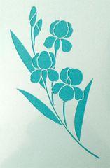 Iris Stencil #2