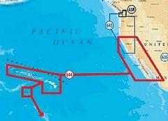 Navionics Platinum Plus XL3 912P+ Hawaiian Islands, US West Coast on SD