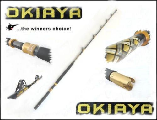 "OKIAYA I.G.F.A. 30-50LB ""THE SLAYER"" Stand Up/Trolling Rod"