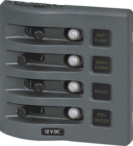 4 Position WaterProof Circuit Breaker Panel
