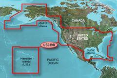 Garmin Bluechart G2 Hawaiian Islands, USA & Western Canada Chart on microSD/SD - HXUS039R