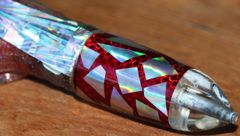 """Morris 9"""" Strawberry/Silver Jetted Bullet w/ Wings"""