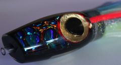 Prometheus Black and Blue Gold Eye Red Ring