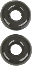 RK27GR - Glass Rings (Black Glass)