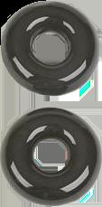 RK27GR - Glass Rings (Black Glass)
