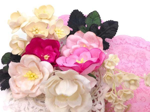 Mulberry Paper Magnolia Flower Scrapbook Kit Diy Paper Crafts