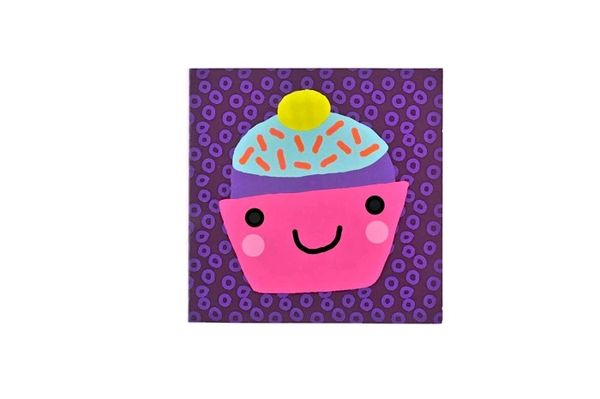 Sweet Smiley Cupcake Card By Paperchase Blank Birthday Cards