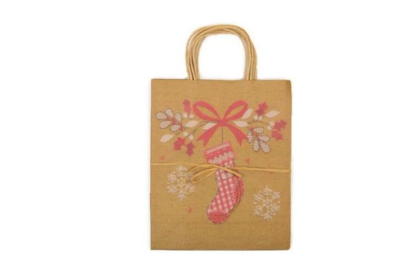 large kraft paper christmas gift bags 4pk christmas stocking