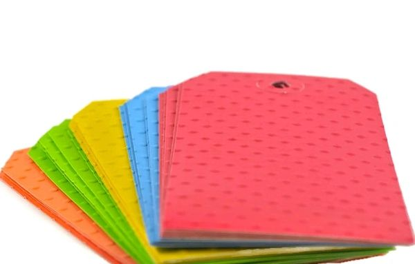 fun rainbow polka dot textured gift tags hand embossed for you
