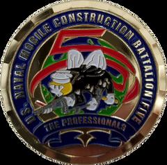 NMCB 5 Command Master Chief Coin