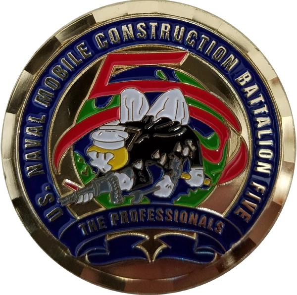 NMCB 5 Command Master Chief Coin