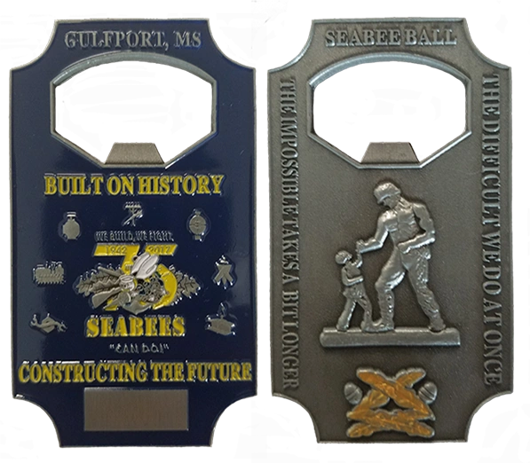 75th Seabee Anniversary Bottle Opener Coin