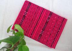 Single Ikkat Blouse Piece - Hot Pink