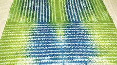Shibori - Cotton - Hand dyed - Green & Blue