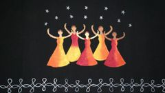 For Women By Women - Handwoven Cotton - Hand Painted - Reach for the Stars - Black