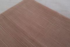 Pondur Khadi Self Design Blouse Piece - Narrow Horizontal Stripes - Beige & White