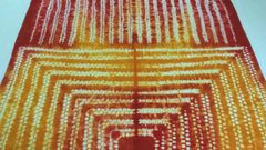 Shibori - Cotton - Hand dyed - Mango Yellow & Red
