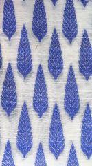 Brocade Cotton Chanderi Blouse Piece - Blue