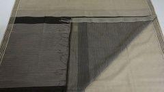 Maheshwari Sarees - Silk Cotton - Woven Border - Cream With Striped Palla & Blouse