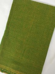Cotton Jacquard Blouse Piece - Shot Yellow with Green Design