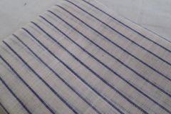 Pondur Khadi Blouse Piece - Blue Stripes