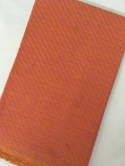 Cotton Jacquard Blouse Piece - Orange with Pink Design