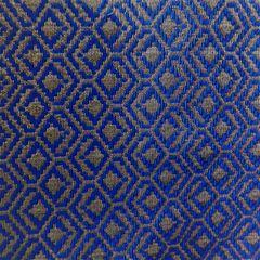 Faux Silk Brocade Blouse Piece - Blue