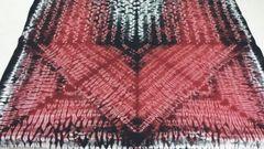 Shibori - Cotton - Hand dyed - Maroon & Black