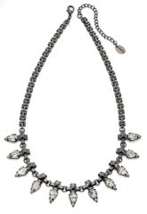 Fiorelli Costume Jewellery Gunmetal Clear Crystal Spike Necklace With Extender