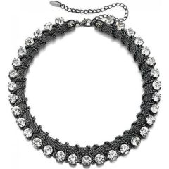 Fiorelli Costume Jewellery Preciosa Crystal & Black Rhodium Collar Necklac
