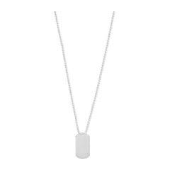 S/S GENTS DOG TAG NECKLACE