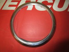 Stainless Steel bezel size is 4 5/8""
