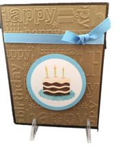 "20 Handcrafted Birthday Card with embossed words""Happy Birthday"""