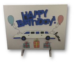"20 Handcrafted Birthday Cards ""RR Limo"" In Style"