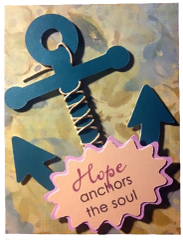 "20 Handcrafted Encouragement Cards ""Hope Anchors the soul"""