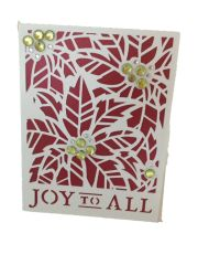 20 Handcrafted Holiday Card Poinsettia
