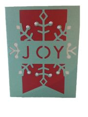 "20 Handcrafted ""Joy"" Holiday Greeting Cards"