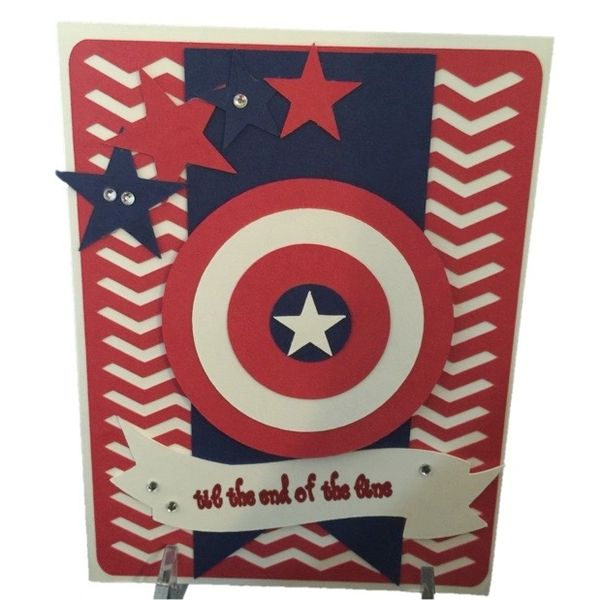 20 Handcrafted Birthday Greeting Cards Captain America Randis