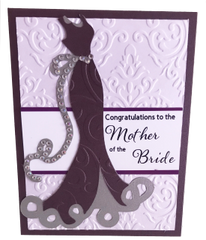 "Custom Handcrafted Congratulations; ""Mother Of The Bride"" Greeting Card"