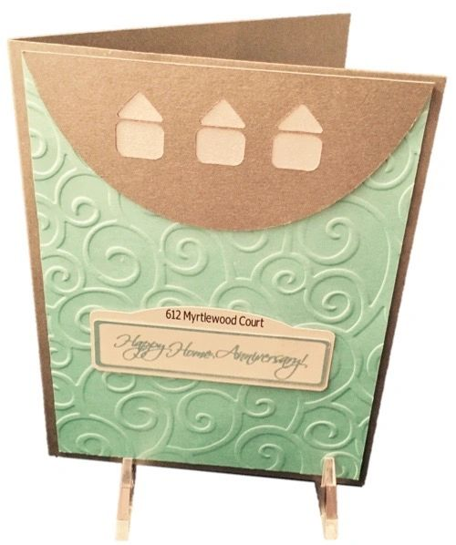 20 Personalized Handcrafted Home Anniversary Greeting Cards Service for Realtors