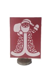 "20 Handcrafted Christmas Greeting Cards, Laser Cut Of ""Santa"""