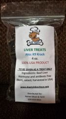 Bone Appetit Liver Treats AKA K9 Krack 4.0z bag