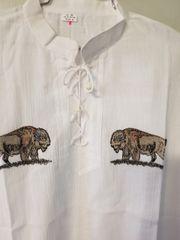 Gauz Shirt Embroidry of Buffalo size medium
